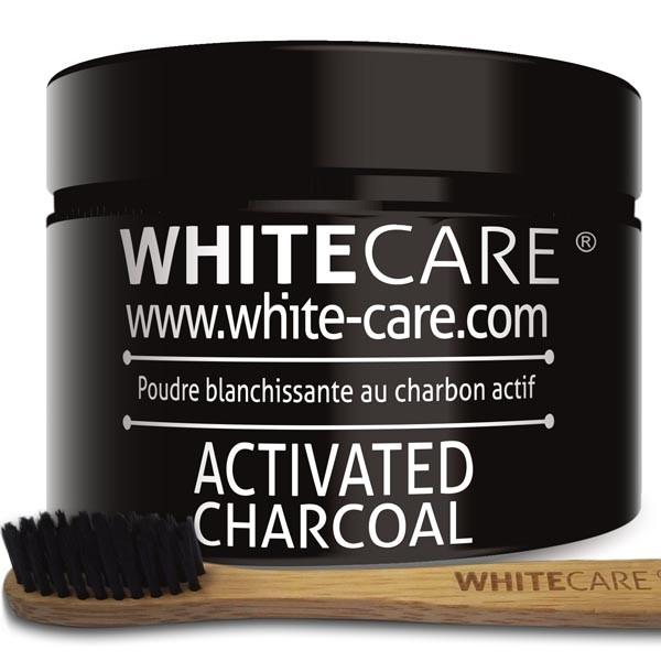 Poudre blanchissante au charbon actif XXL + Brosse à dents en bambou ***PROMO***